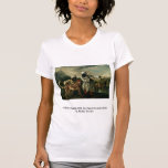 Guepardo indio con dos criados y un ciervo camiseta