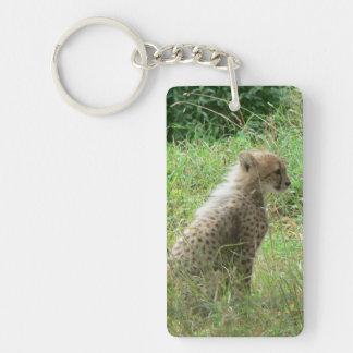 guepardo joven llaveros