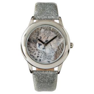 Guepardo lindo Cub Reloj De Mano