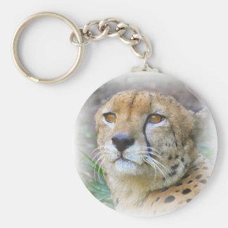 guepardo llavero redondo tipo pin