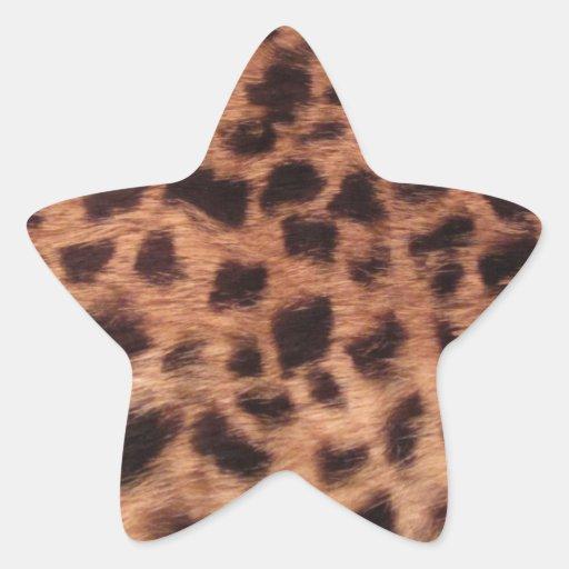 Guepardo Pegatinas Forma De Estrella Personalizadas