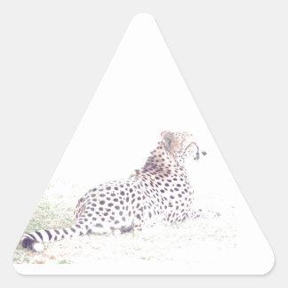 Guepardo Pegatina Triangular
