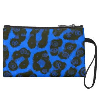 Guepardo pintado brillante del negro azul