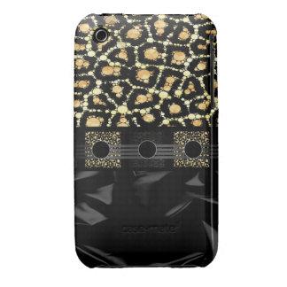 Guepardo poner crema de lujo Bling iPhone 3 Case-Mate Funda