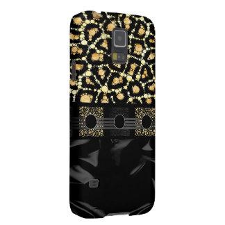 Guepardo poner crema de lujo Bling Fundas De Galaxy S5