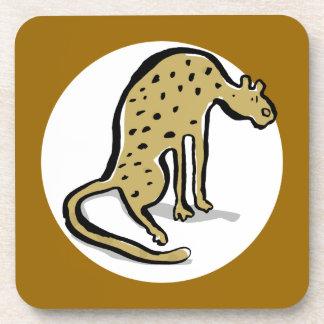 guepardo posavasos de bebida