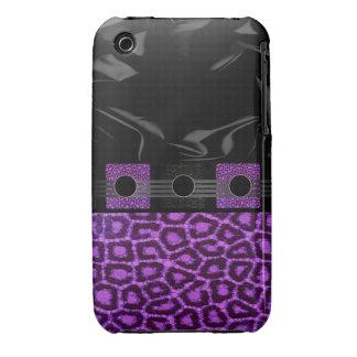 Guepardo púrpura de lujo Case-Mate iPhone 3 funda
