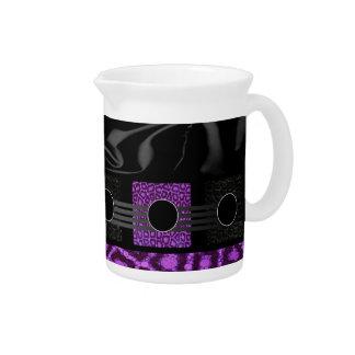 Guepardo púrpura de lujo jarras de beber