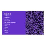 guepardo púrpura tarjetas de visita