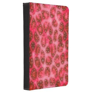 Guepardo que brilla intensamente rosado rojo funda de kindle 4