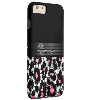 Guepardo rosado Bling iPhine6 más los casos Funda De iPhone 6 Plus Tough