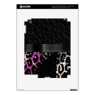 Guepardo rosado púrpura pegatinas skins para iPad 3