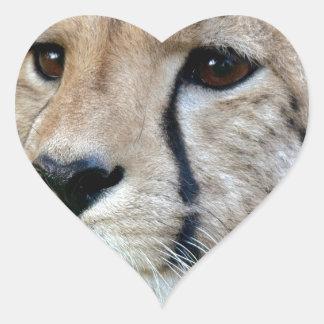 Guepardo salvaje pegatina de corazon personalizadas