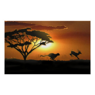 Guepardo y Gazelle Impresiones