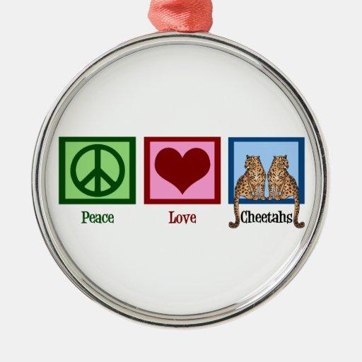 Guepardos del amor de la paz adorno