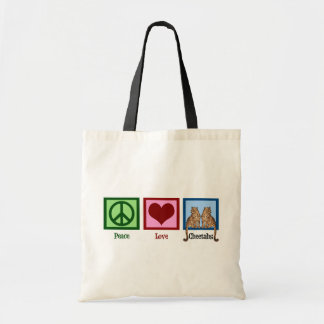 Guepardos del amor de la paz bolsa tela barata