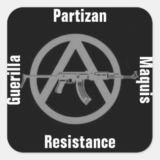 guerilla partisan marquis resistance square sticke square sticker