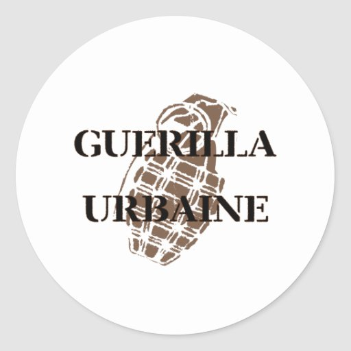 Guerilla Urbaine Round Stickers