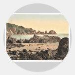 Guernesey, bahía de Moulin Huet, I, Islas del Etiquetas Redondas