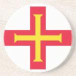 Guernesey, bandera de Guernesey Posavasos Manualidades