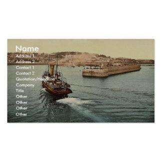 Guernesey, el puerto de San Pedro, llegada de barc Tarjeta De Visita