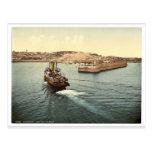 Guernesey, el puerto de San Pedro, llegada de barc Postales