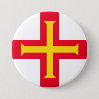 Guernesey Flag Button