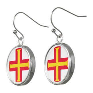 Guernesey Flag Earrings