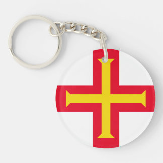 Guernesey Flag Keychain