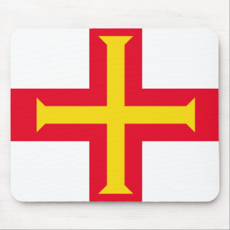 Guernesey Flag Mouse Pad