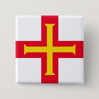 Guernesey Flag Pinback Button