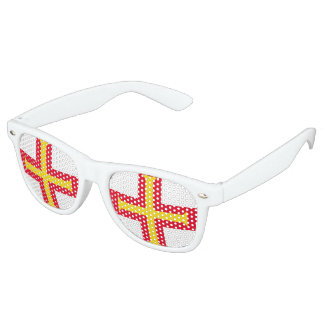 Guernesey Flag Retro Sunglasses