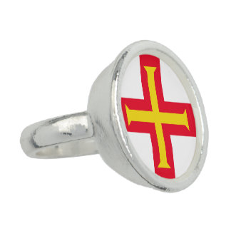 Guernesey Flag Ring
