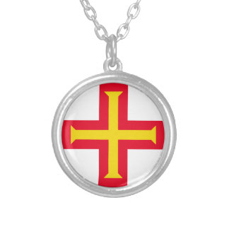 Guernesey Flag Silver Plated Necklace