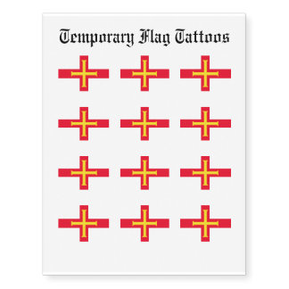 Guernesey Flag Temporary Tattoos