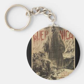 Guernica (1938)_Propaganda Poster Basic Round Button Keychain