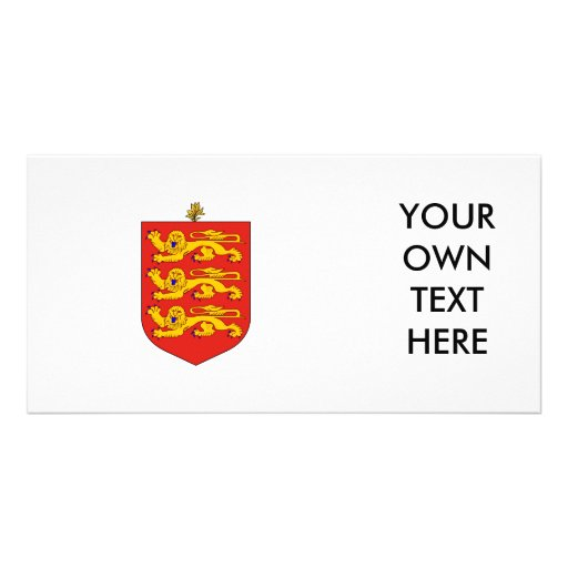Guernsey Coat of Arms Personalized Photo Card