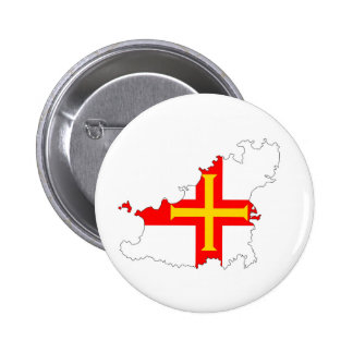 guernsey country flag map shape silhouette symbol pinback button