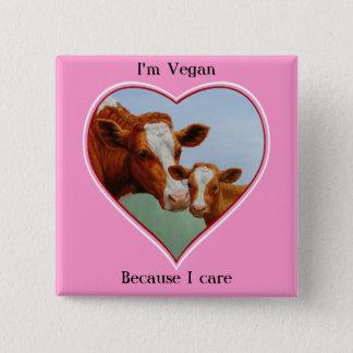 Guernsey Cow and Calf Vegan Button