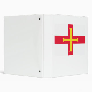 Guernsey Flag 3 Ring Binder