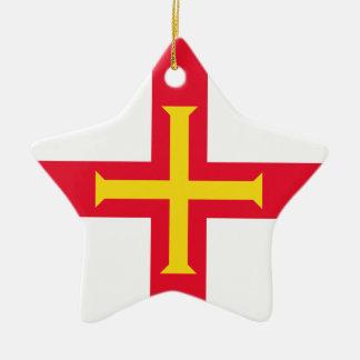 Guernsey Flag Ceramic Ornament