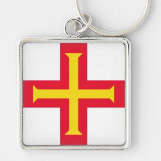 Guernsey Flag GG Keychain
