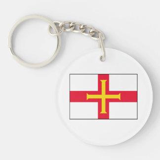 Guernsey Flag Keychain