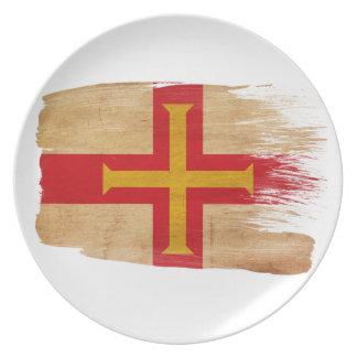 Guernsey Flag Dinner Plate
