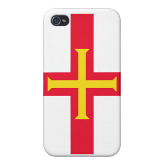 Guernsey National Nation Flag  iPhone 4 Covers