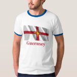 Guernsey Waving Flag with Name T-Shirt