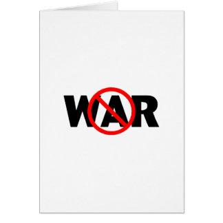 Guerra anti tarjeta de felicitación