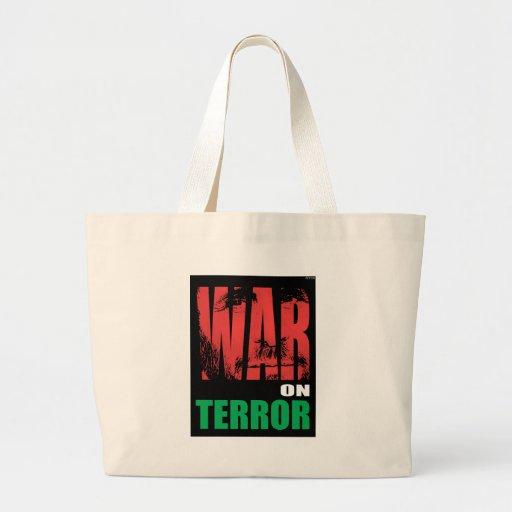 Guerra antiterrorista bolsa tela grande