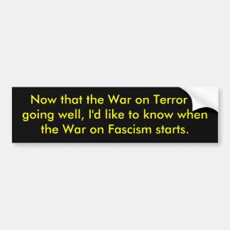 Guerra antiterrorista pegatina de parachoque