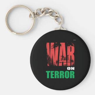 Guerra antiterrorista llavero redondo tipo pin